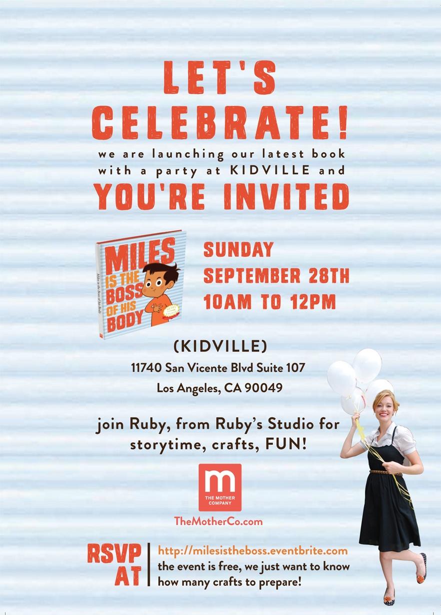 miles boss book launch invite