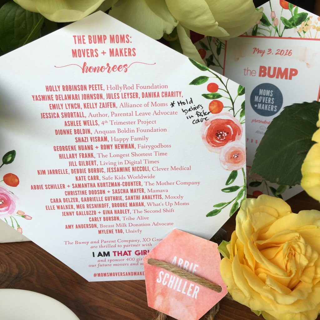 Program at The Bump's Moms Movers and Makers Event 2016