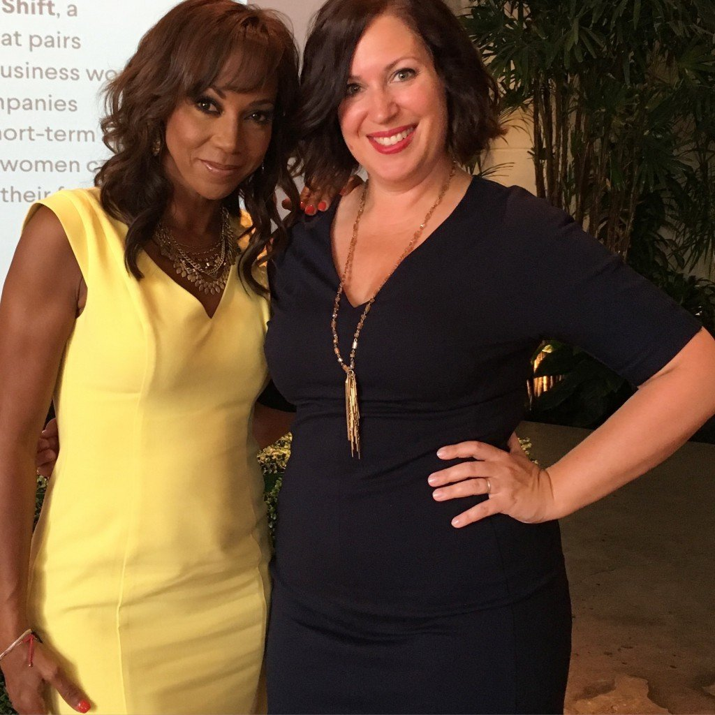 Abbie Schiller, CEO & Founder of The Mother Company and Holly Robinson Peete at The Bump's Moms Movers and Makers Event 2016