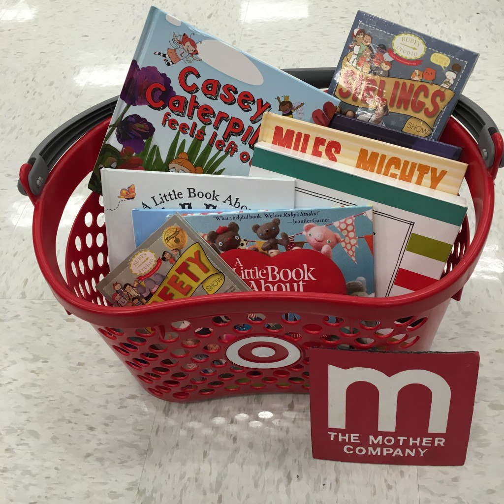Target basket full of Moco products