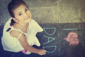 fathers day girl w chalk