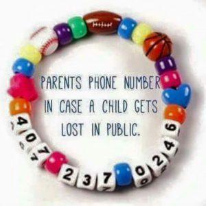 Personalized Safety ID Bracelet