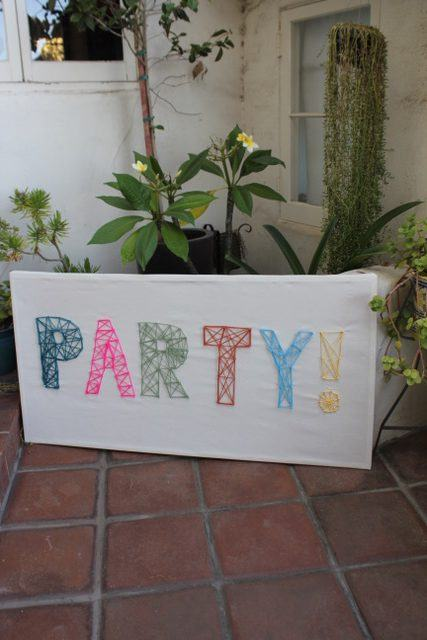 Hand Made Party Sign