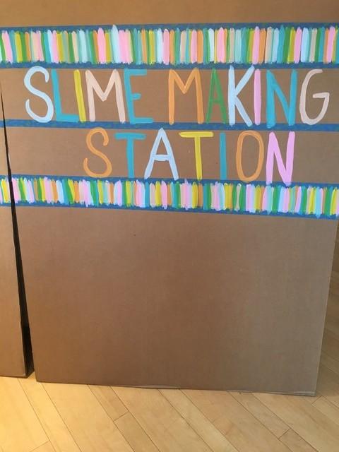Slime making station sign