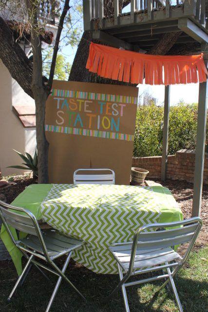 Taste Test Station Sign
