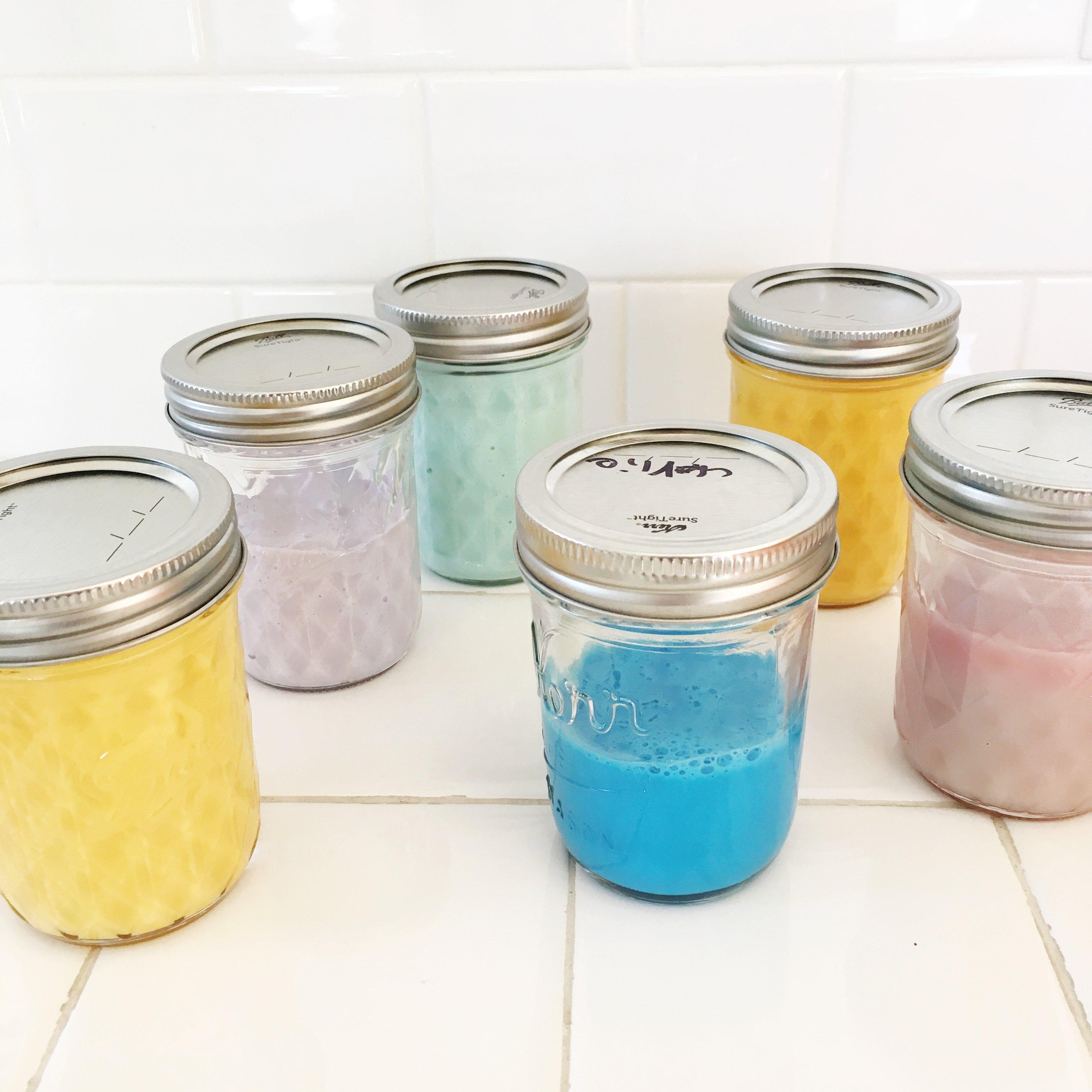 slime in jars