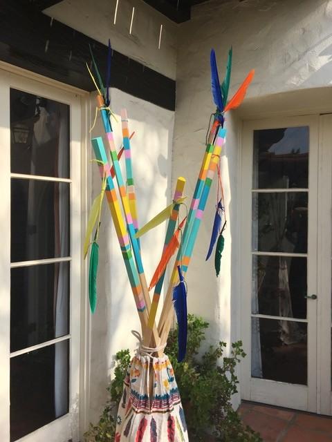 tee pee sticks painted